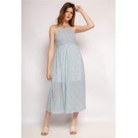 Îmbracaminte Femei Rochii lungi Fashion brands 571-BLEU-CLAIR Albastru / LuminoasĂ