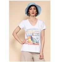 Îmbracaminte Femei Topuri și Bluze Fashion brands 8301-COMBI-SKY-BLUE Albastru