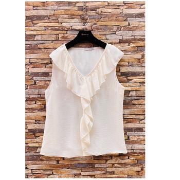 Îmbracaminte Femei Topuri și Bluze Fashion brands ERMD-13797-CP-BLANC Alb