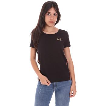 Îmbracaminte Femei Tricouri mânecă scurtă Ea7 Emporio Armani 3KTT51 TJ9VZ Negru