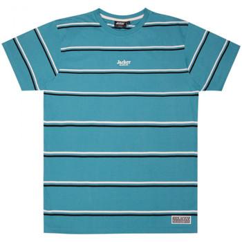 Îmbracaminte Bărbați Tricouri mânecă scurtă Jacker Poh stripes albastru
