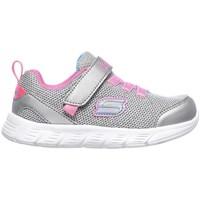 Pantofi Fete Pantofi sport Casual Skechers Comfy Flex Moving ON De argint
