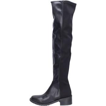 Pantofi Femei Cizme lungi peste genunchi Olga Rubini BH523 Negru