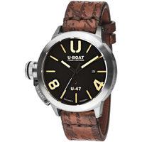 Ceasuri & Bijuterii Bărbați Ceasuri Analogice U-Boat 8105, Automatic, 47mm, 10ATM Argintiu
