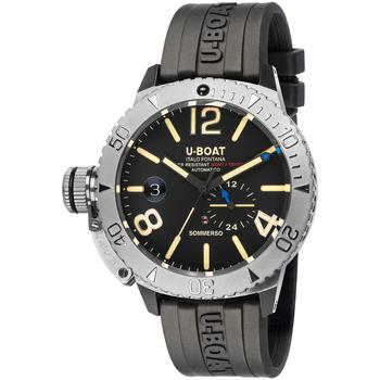 Ceasuri & Bijuterii Bărbați Ceasuri Analogice U-Boat 9007A, Automatic, 46mm, 30ATM Argintiu