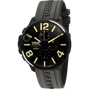 Ceasuri & Bijuterii Bărbați Ceasuri Analogice U-Boat 8109/C, Quartz, 45mm, 10ATM Negru