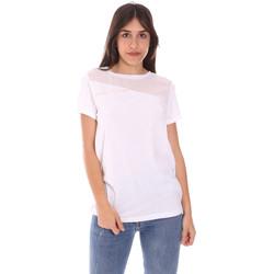 Îmbracaminte Femei Tricouri mânecă scurtă Ea7 Emporio Armani 3KTT34 TJ4PZ Alb