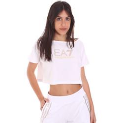 Îmbracaminte Femei Tricouri mânecă scurtă Ea7 Emporio Armani 3KTT03 TJ28Z Alb