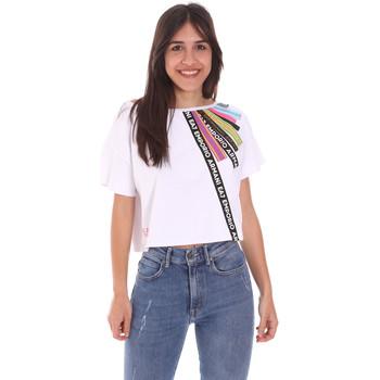 Îmbracaminte Femei Tricouri mânecă scurtă Ea7 Emporio Armani 3KTT40 TJ39Z Alb