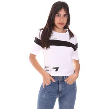 Îmbracaminte Femei Tricouri mânecă scurtă Ea7 Emporio Armani 3KTT05 TJ9ZZ Alb