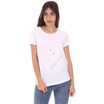 Îmbracaminte Femei Tricouri mânecă scurtă Ea7 Emporio Armani 3KTT28 TJ12Z Alb