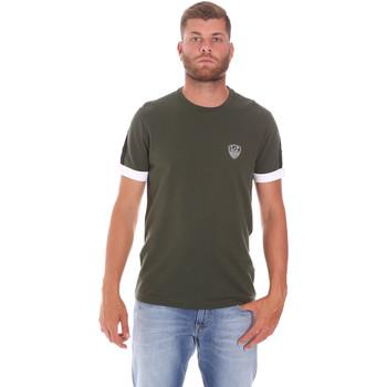 Îmbracaminte Bărbați Tricouri mânecă scurtă Ea7 Emporio Armani 3KPT56 PJ4MZ Verde