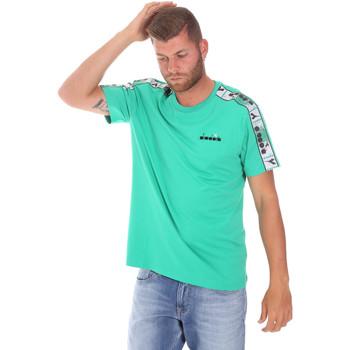 Îmbracaminte Bărbați Tricouri mânecă scurtă Diadora 502176085 Verde