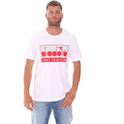 Îmbracaminte Bărbați Tricouri mânecă scurtă Diadora 502175835 Alb