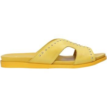 Pantofi Femei Papuci de vară Sshady MRT233 Galben