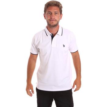 Îmbracaminte Bărbați Tricou Polo mânecă scurtă U.S Polo Assn. 51139 49785 Alb