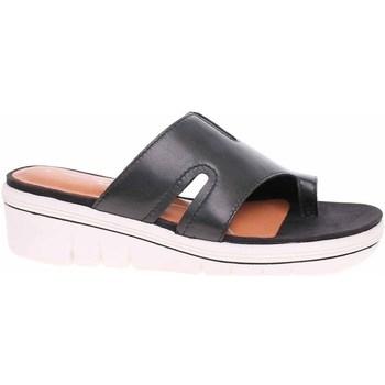 Pantofi Femei Papuci de vară Marco Tozzi Antic Negre
