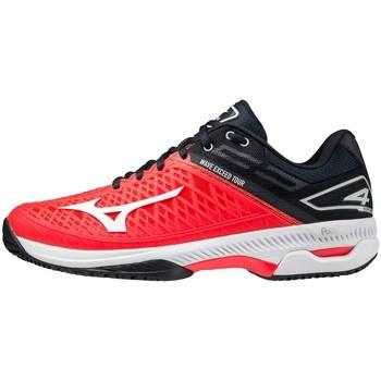 Pantofi Bărbați Tenis Mizuno Wave Exceed Tour 4 CC Negre, Roșii