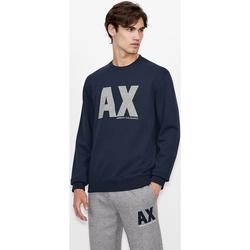 Îmbracaminte Hanorace  EAX Sweatshirt col rond  6KZMFG-ZJ5UZ navy bleu marine