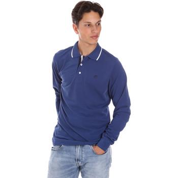Îmbracaminte Bărbați Tricou Polo manecă lungă Key Up 2L711 0001 Albastru
