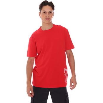 Îmbracaminte Bărbați Tricouri mânecă scurtă Ea7 Emporio Armani 3KPT23 PJ9TZ Roșu