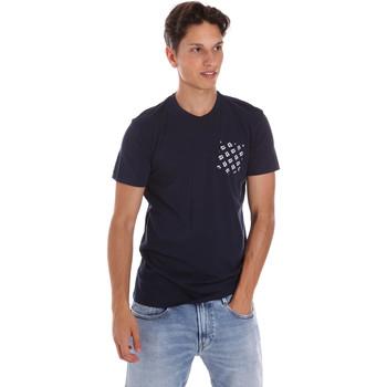 Îmbracaminte Bărbați Tricouri mânecă scurtă Key Up 2S431 0001 Albastru