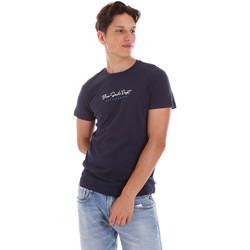 Îmbracaminte Bărbați Tricouri mânecă scurtă Key Up 2S438 0001 Albastru