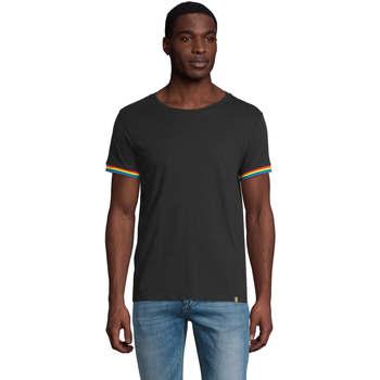 Îmbracaminte Bărbați Tricouri mânecă scurtă Sols CAMISETA MANGA CORTA RAINBOW Negro