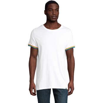 Îmbracaminte Bărbați Tricouri mânecă scurtă Sols CAMISETA MANGA CORTA RAINBOW Blanco
