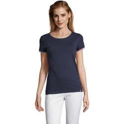 Îmbracaminte Femei Tricouri mânecă scurtă Sols CAMISETA MANGA CORTA RAINBOW Azul