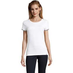 Îmbracaminte Femei Tricouri mânecă scurtă Sols CAMISETA MANGA CORTA RAINBOW Blanco
