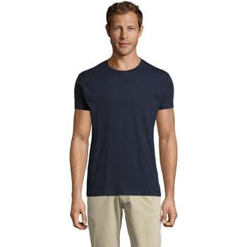 Îmbracaminte Bărbați Tricouri mânecă scurtă Sols REGENT FIT CAMISETA MANGA CORTA Azul