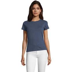 Îmbracaminte Femei Tricouri mânecă scurtă Sols REGENT FIT CAMISETA MANGA CORTA Azul