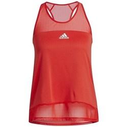 Îmbracaminte Femei Maiouri și Tricouri fără mânecă adidas Originals Training Heatrdy Mesh Tank Top Roșii