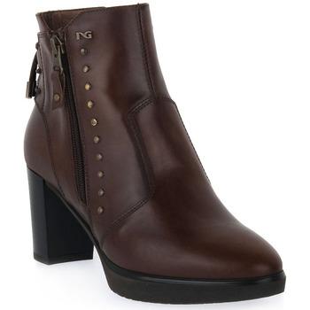 Pantofi Femei Botine NeroGiardini NERO GIARDINI  DELAVATO BEIGE Beige