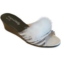 Pantofi Femei Papuci de vară Milly MILLY102zebra bianco