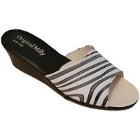 Pantofi Femei Papuci de vară Milly MILLY103zebra bianco
