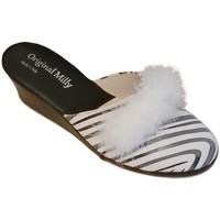 Pantofi Femei Saboti Milly MILLY300zebra bianco