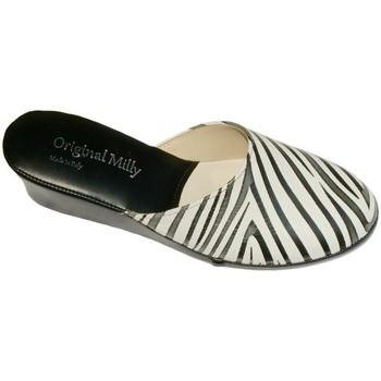 Pantofi Femei Saboti Milly MILLY5000zebra nero