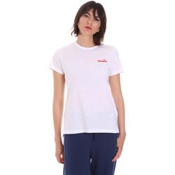 Îmbracaminte Femei Tricouri mânecă scurtă Diadora 102175882 Alb