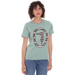 Îmbracaminte Femei Tricouri mânecă scurtă Trussardi 56T00371-1T005228 Verde