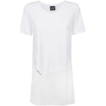 Îmbracaminte Femei Tricouri mânecă scurtă Ea7 Emporio Armani 3KTT36 TJ4PZ Alb