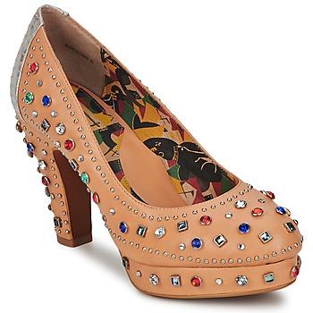 Pantofi Femei Pantofi cu toc Miss L'Fire SHOWGIRL Bej