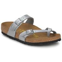 Pantofi Femei Papuci de vară Birkenstock MAYARI Argintiu