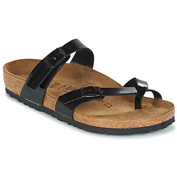 Pantofi Femei Papuci de vară Birkenstock MAYARI Negru / Verni