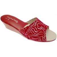 Pantofi Femei Papuci de vară Milly MILLY103zebraros rosso