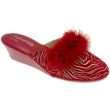 Pantofi Femei Saboti Milly MILLY300zebraross rosso