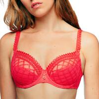 Lenjerie intimă Femei Jumătate de cupă /Balconette Louisa Bracq 485-01 HBC roșu