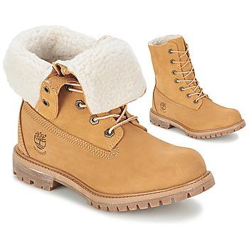 Pantofi Femei Ghete Timberland AUTHENTICS TEDDY FLEECE WP FOLD DOWN Coniac / LuminoasĂ
