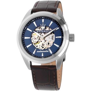 Ceasuri & Bijuterii Bărbați Ceasuri Analogice Maserati R8821112005, Automatic, 45mm, 10ATM Argintiu